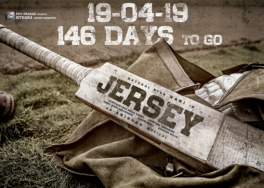 poster of Jersey starring Natural Star Nani & Shraddha Srinath