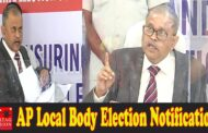 AP Local Body Election Notification Release by AP SEC Nimmagadda Ramesh Kumar Vijayawada,Vizagvision