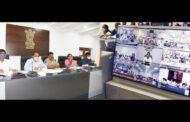 AP CM Video Conference with District.Collectors on స్పందన ఫిర్యాదుల,ఉపాధి హామీ at camp office