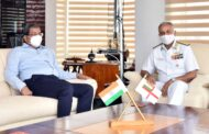 VPT Chairman Shri KR Mohana Rao Interacts with Vice Adm AB Singh, FOCinC ENC Vizagvision