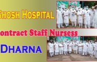 Ghosh Hospital Contract Staff Nursess Government should support the family members Visakhapatnam