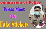 Commission of Police Press Meet on Fake Stickers Visakhapatnam Vizagvision